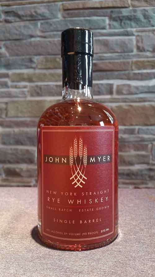 John Myer New York Straight Rye Whiskey-Single Barrel