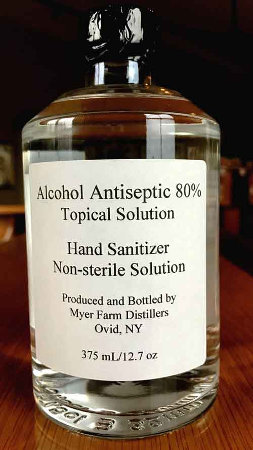 Myer Farm Distillers Hand Sanitizer 80% Alcohol
